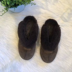 [UGG] Brown Coquette Slide Slippers - Size 7